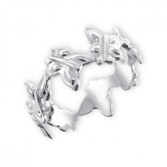 """Stříbrný prsten """"Motýlci"""". Ag 925/1000"""